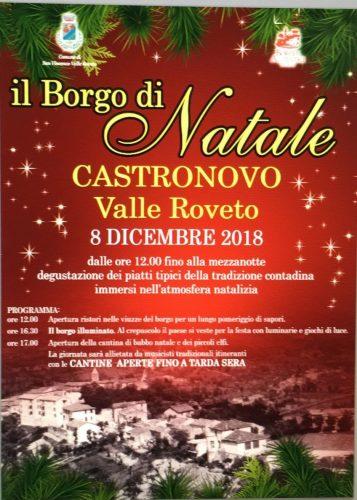 Borgo di Natale a Castronovo di San Vincenzo Valle Roveto